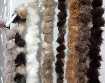 Handmade Pom Pom Fur Scarf // Genuine Rabbit Fur // Winter Scarves For Kids And Women
