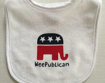 WeePublican (Republican) GOP Baby Bib