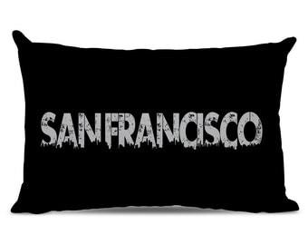 San Francisco Pillow - San Francisco Skyline Pillow - City Pillow - Urban Throw Pillow - San Francisco Gift - City of San Francisco