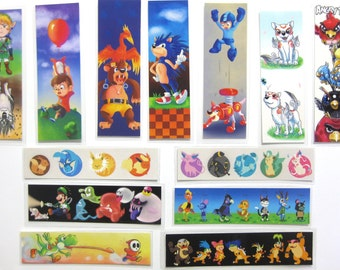 Video Game bookmarks - assorted