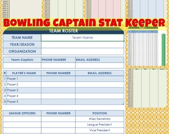 Bowling Captain Stat Keeper