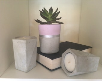 Raw Concrete Tea Light Candle Holder