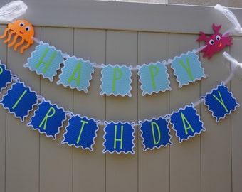 Under the sea Birthday Banner