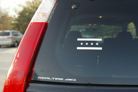 Chicago Flag Vinyl Decal Sticker For Car Window Products - Window stickers for cars chicago