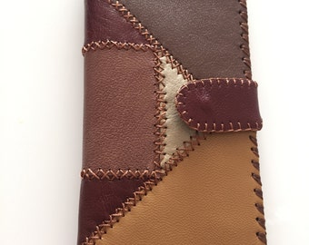 Brown Natural Leather Wallet for women