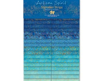 Artisan Spirt Shimmer by Northcott - Blue Lagoon