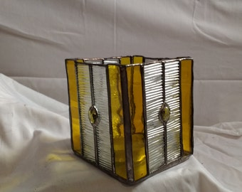 Yellow Votive Candle Holder