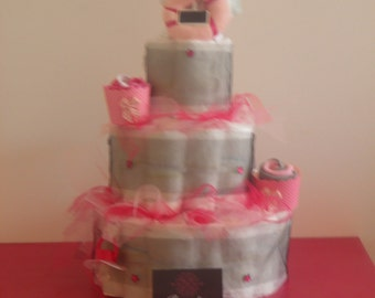 Diaper cake my little tutu