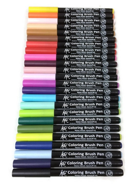 Set 24pcs 24 colors sakura koi watercolor for Koi brush pen