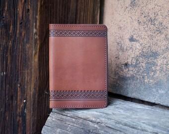 "Leather handmade passport cover ""Laconic"""
