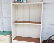 Rustic Bookcase ~Sweet Vintage Farmhouse Shabby Chic Hand Painted Shelves Bookcase ~ Farrow & Ball~ Clunch