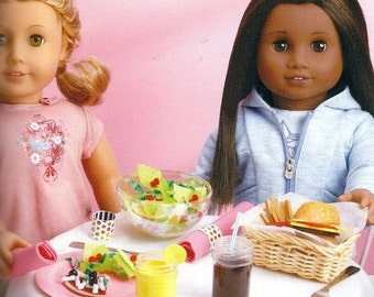 KIDS CRAFT KIT! Creat a Restaurant For American Girl Dolls / Make 28 Foods / 20 Supplies Included