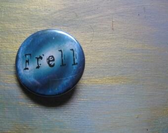 Farscape 'frell' button, sci-fi fan button, alien button, pinback button, science fiction, Farscape Frell 1.5' inch button