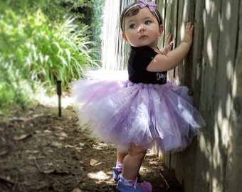 Simple-N-Sweet tutu. This classic style tutu can be made with a matching bow.