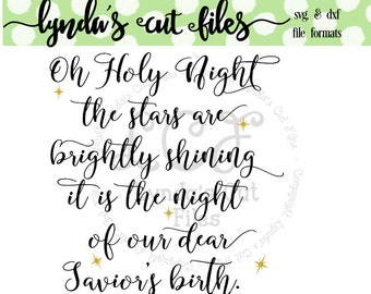 Oh Holy Night SVG/DXF file
