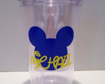 Blue And Yellow Mickey Tumbler
