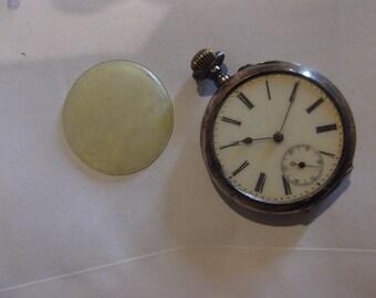 Antique Swiss Galonne 800 Silver Pocket Watch