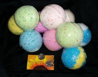 Bath Bombs 9 oz XL Assorted Bath Bombs - Huge Bath Bombs  - Giant Bath Bombs - Bath Bomb - Jumbo Bath Bombs - Spa Party Favor