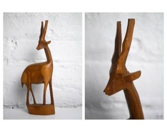 African Wood Gazelle Antelope Mid Century Modern