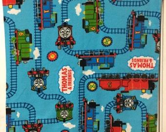 One (1) Thomas the Tank Engine Baby Fleece Blanket