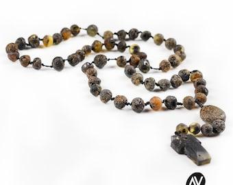 Amber Rosary | Baltic amber | Raw amber beads | Healing amber | Amber jewelry | Rosenkranz aus Ostseebernstein | AV0201