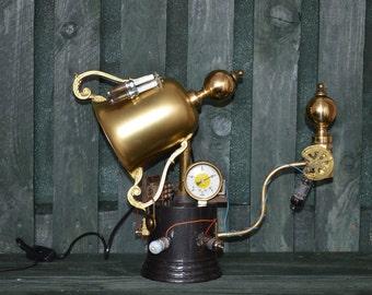 SOLD - Steampunk lamp, steampunk light