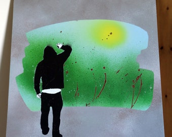 Back to Nature - Stencil & Spray Paint Art Work