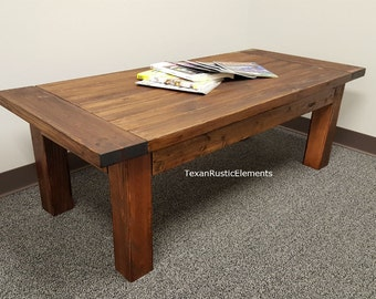 stained coffee table | etsy