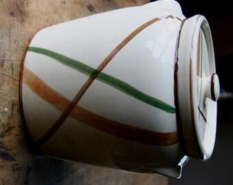 Vintage Cookie Jar/Bean Jar With Lid