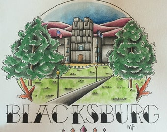 Blacksburg Virginia Tech Print
