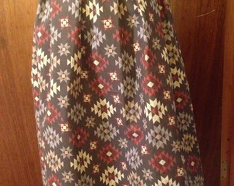 Aztec High-waisted Knee Length Skirt