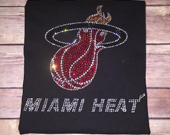 Miami Heat Rhinestone Shirt