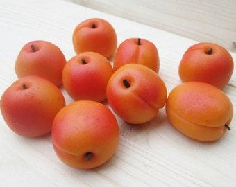 Marzipan Apricots (9) - 3D marzipan fruit - apricot candy - apricot cake - apricot decorations - apricot cake topper