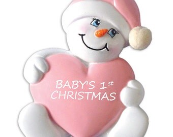 Girl Baby's 1st Christmas Personalized Christmas Present