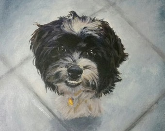 Customized, Personalized Pet Portrait Paintings, Acyrlic on Canvas