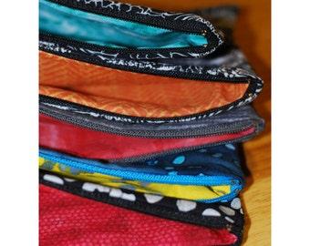 Zipper Pouch, Pencil Case, Makeup Bag, Bridesmaid Gift, Zippered Clutch