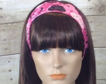 The sweetheart headband pink black and white