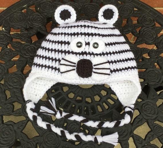 White Tiger Crochet Pattern Free : Tiger Hat Crochet White Tiger Hat Character Hat Child Tiger