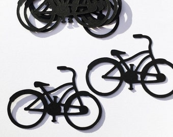 Bicycle set of five embellishments , scrapbooking , card making.