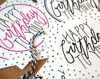 HAPPY BIRTHDAY TAG // personalized gift tag, gift tag, happy birthday to you, happy birthday