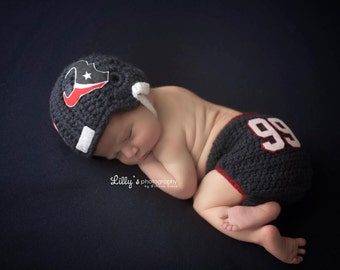Baby Houston Texans inspired Football Helmet, Hat, Made to Order, Limited Time Only