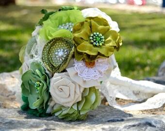 Ramo de novia Tela Vintage Personalizado Handmade Bouquet fabric bridal boda wedding  encaje lace