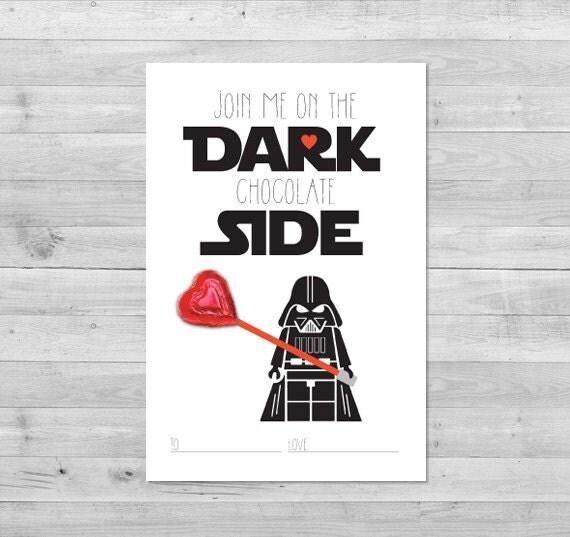 Star Wars Printable Valentines Day Cards – Dark Valentines Day Cards