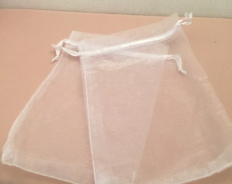 """4""""x6"""" 10 Sheer organza bags for birthday gifts, wedding favors, jewelry or party gifts."""