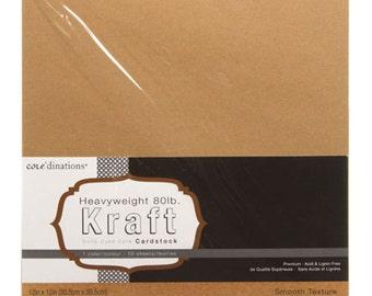 12 x 12 Kraft Card Stock - Core'dinations Card Stock - Heavy Weight Card Stock - Acid Free Card Stock - Kraft Card Stock - Kraft Paper 12x12