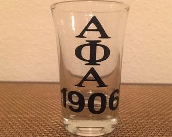 Alpha Phi Alpha Shot Glass