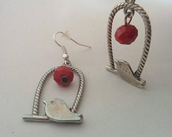 Red Moon - earrings