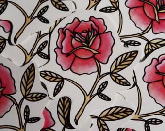 Pink Rose Mini Sticker