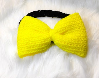 Lemon Puff Oversized Bow Headband