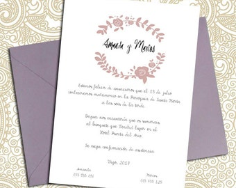 Digital invitation printable